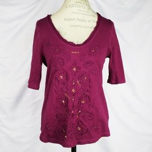 Anhropologie Blouse By Meadow Rue Size M